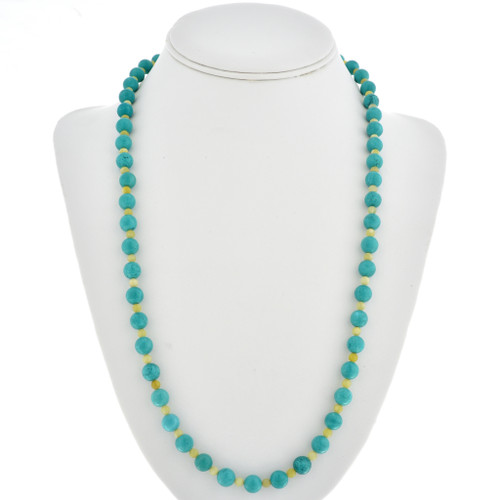 Green Turquoise Serpentine Bead Necklace 30115