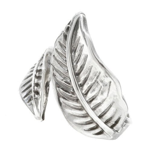 Sterling Silver Feather Ring 30168