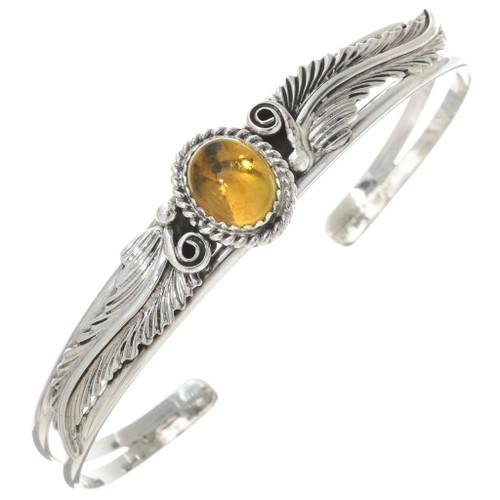 Citrine Sterling Silver Ladies Bracelet 30292