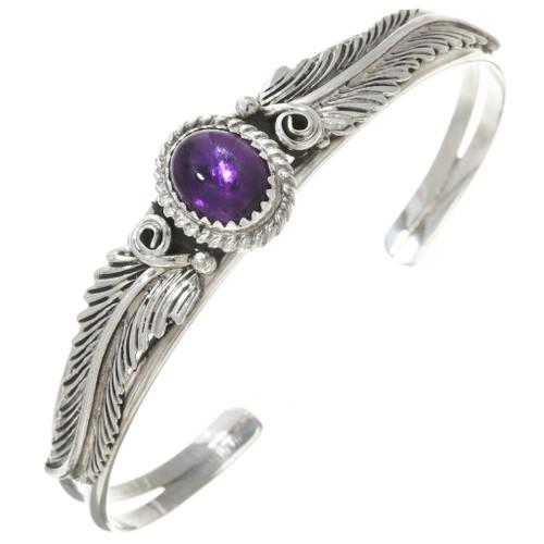Amethyst Silver Ladies Native American Bracelet 30295