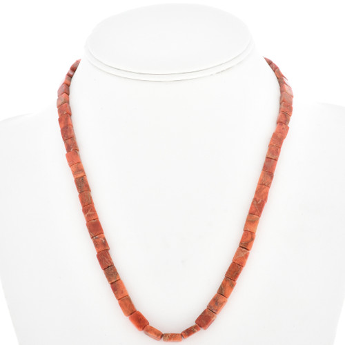Apple Coral Beaded Necklace 30311