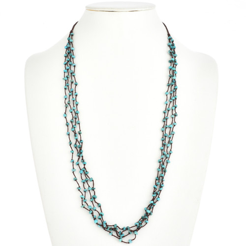 Traditional Turquoise Four Strand Bead Necklace 30361