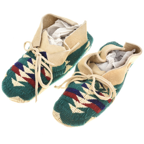 Chocktaw Indian Beaded Moccasins 30370