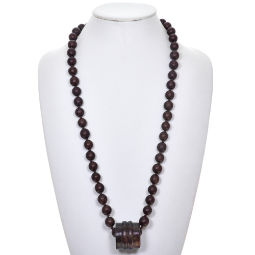 Vintage Wooden Bead Necklace 30386