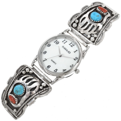 Turquoise Coral Bear Paw Mens Watch Tips 30401