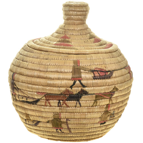 Vintage Northwest Indian Basket With Lid 30412