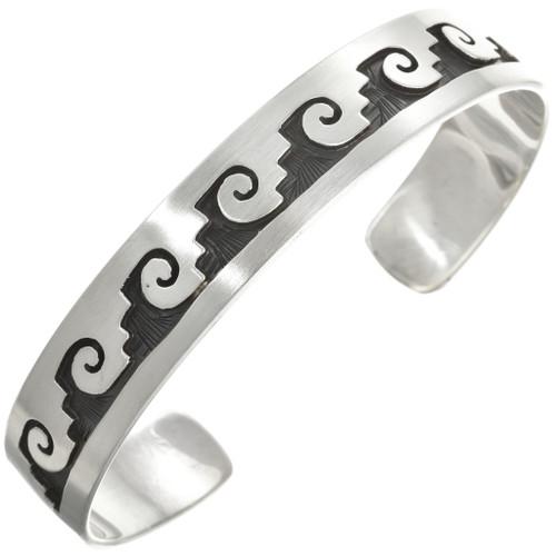 Native American Bracelet Sterling Unisex Cuff 30433