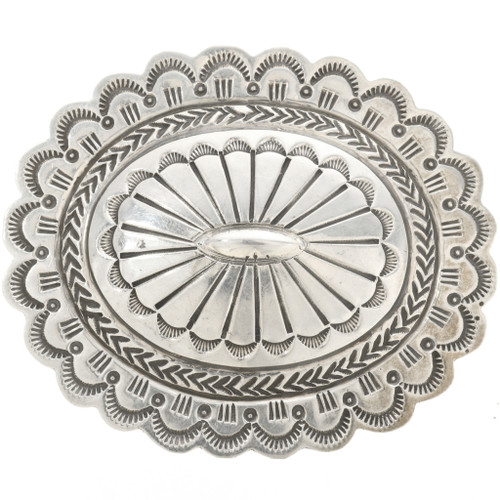 Old Pawn Navajo Silver Belt Buckle 0833