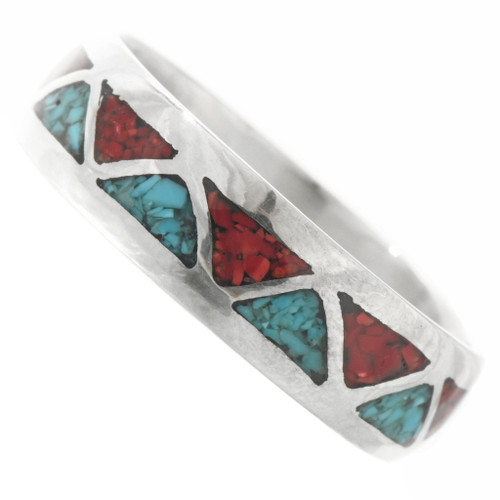 Inlaid Sterling Turquoise Ring 30536