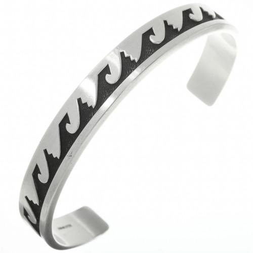 Vintage Overlaid Silver Cuff Sterling Bracelet 30701