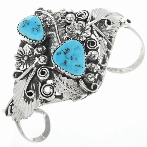 Vintage Turquoise Silver Ladies Bracelet 30713