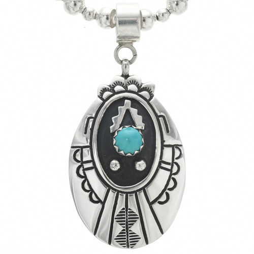 Native American Western Turquoise Pendant 30965