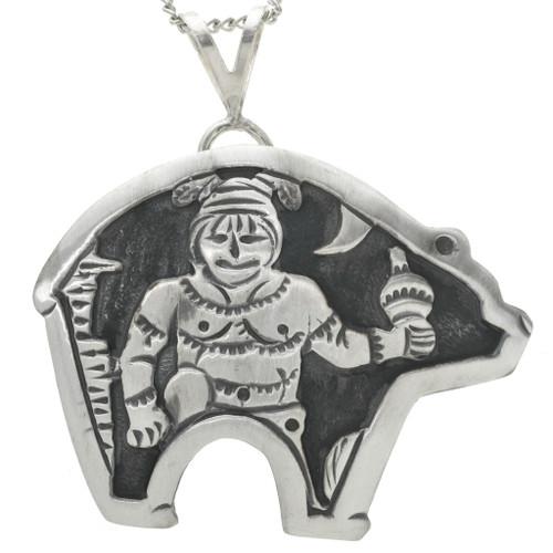 Silver Kachina Bear Pendant 31018