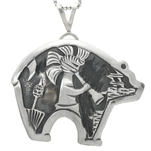 Navajo Silver Overlay Kachina Pendant 31019