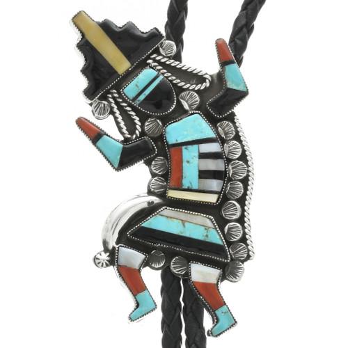 Zuni Turquoise Rainbow Man Bolo Tie 31042