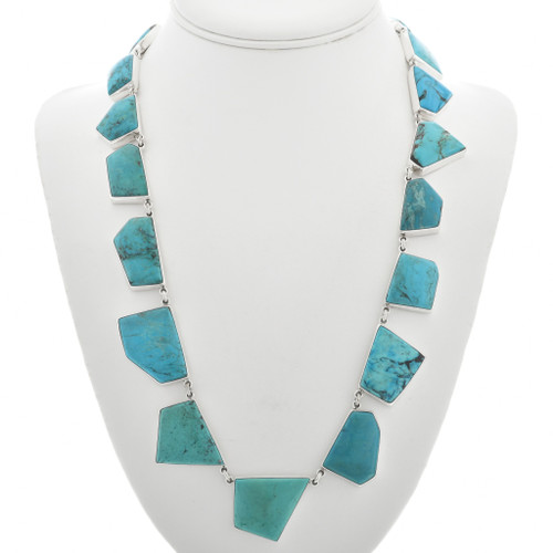 Vintage Turquoise Silver Necklace 31059