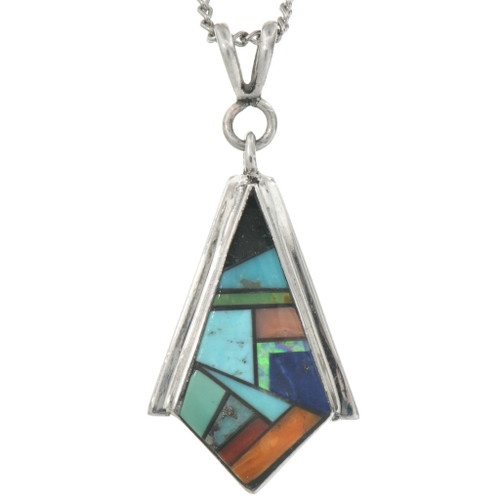 Sterling Silver Turquoise Pendant 31076