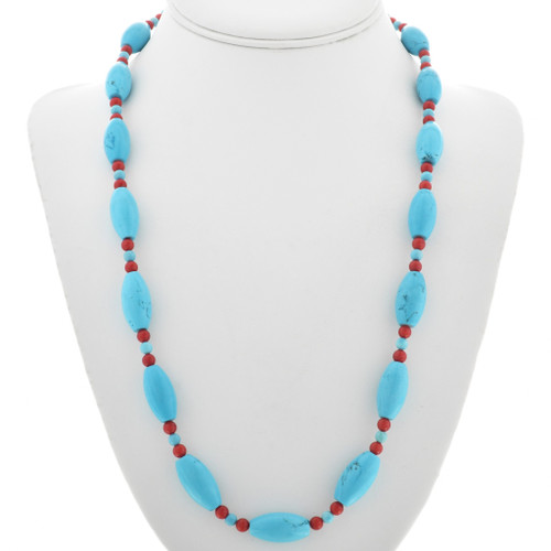 Turquoise Coral Necklace 31101