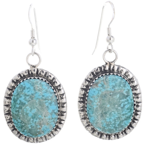 Turquoise Silver French Hook Earrings 31155