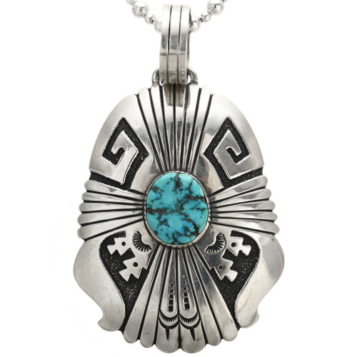 Tommy Singer Sterling Silver Turquoise Pendant 31170