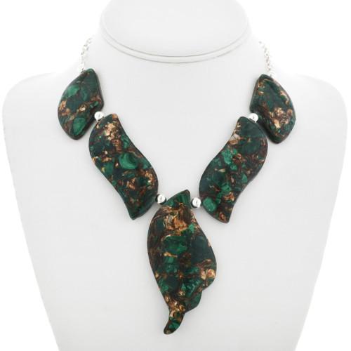 Curvy Malachite Necklace 31173