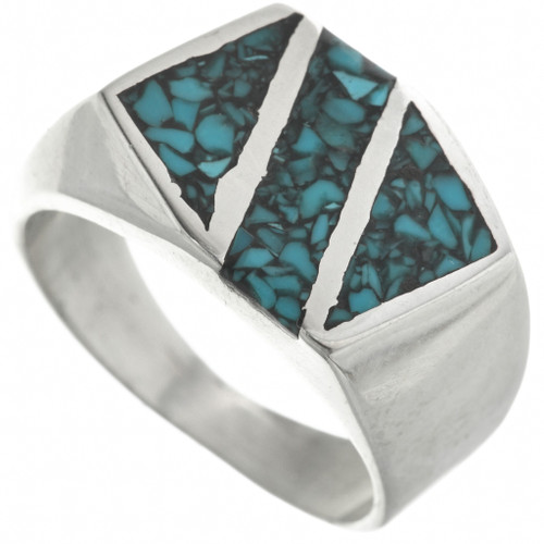 Western Turquoise Silver Ring 31210