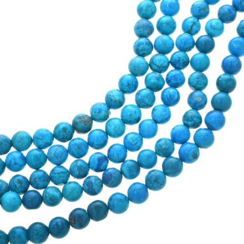 Blue Turquoise Magnesite Round Beads 30827