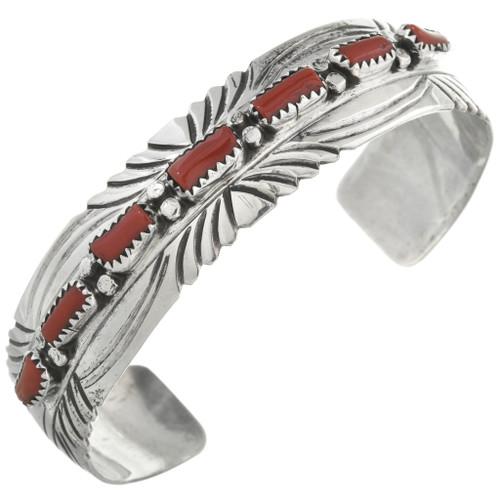 Navajo Red Coral Bracelet 31249