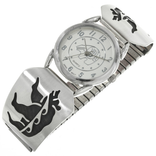 Vintage Hopi Overlaid Silver Watch 31256