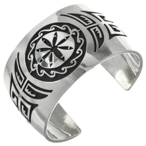 Vintage Hopi Overlaid Silver Bracelet 31261