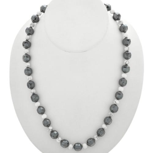 Navajo Hematite Bead Necklace 31291