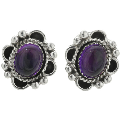 Navajo Amethyst Earrings 31327