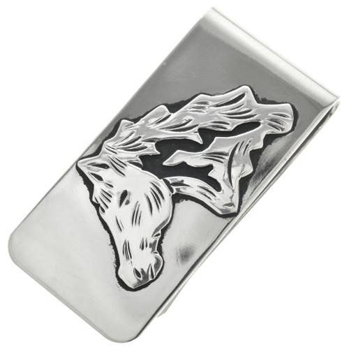 Navajo Silver Horse Money Clip 31334