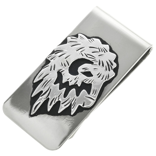 Silver Buffalo Head Money Clip 31336