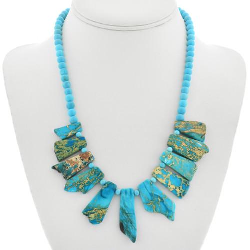Jasper Turquoise Navajo Necklace 31380
