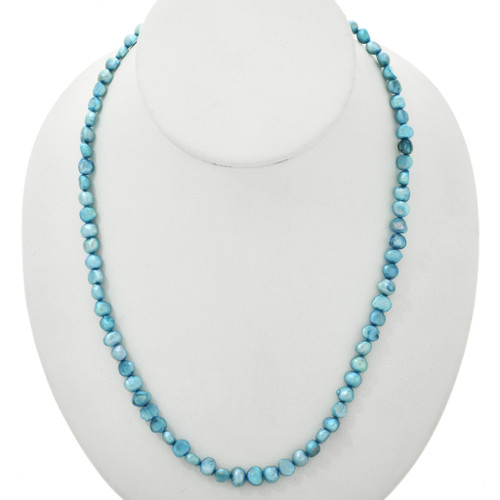 Navajo Blue Freshwater Pearl Necklace 31385