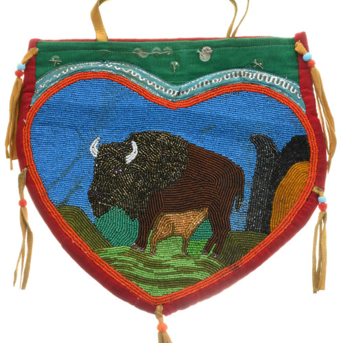 Vintage Nez Perce Beaded Bag Purse 31509