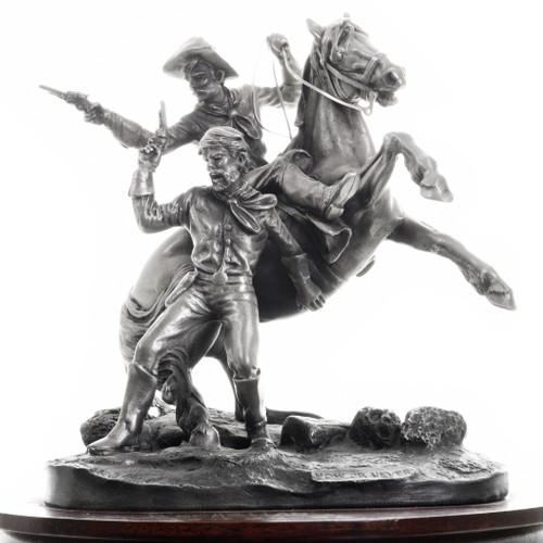 Western Calvary Gunfight Sculpture 31476