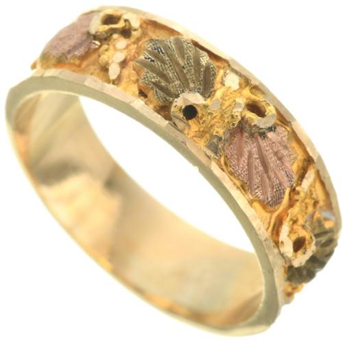 Ladies Vintage Black Hills 10K Gold Band Ring