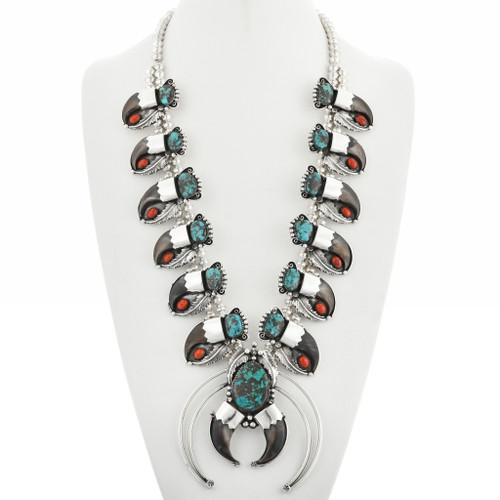 Squash Blossom Bear Claw Necklace 31704