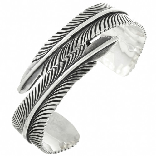 Native American Silver Feather Bracelet 31741