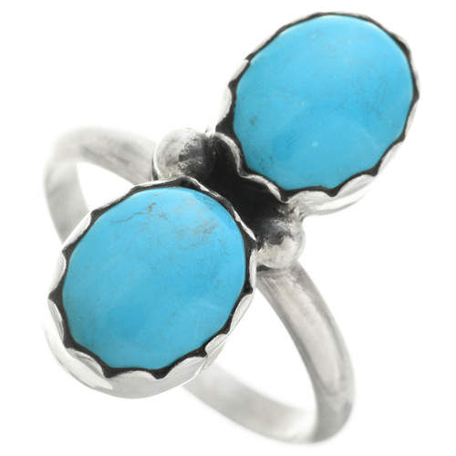 Turquoise Silver Navajo Ring 31751