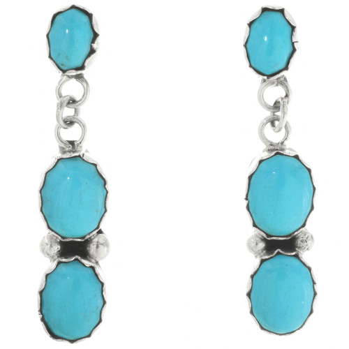 Blue Turquoise Drop Earrings 31746