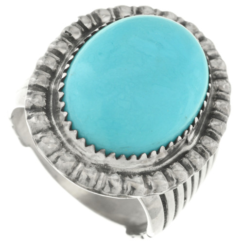 Western Turquoise Navajo Ring 31759