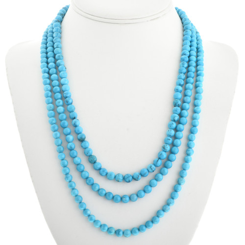 Three Strand Turquoise Navajo Necklace 31765