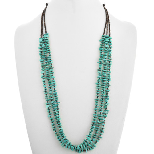 Turquoise Nugget Beads Heishi Navajo Necklace 31768
