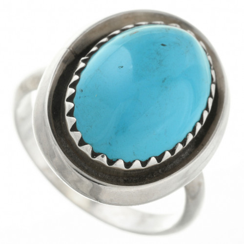 Navajo Turquoise Silver Ring 31771