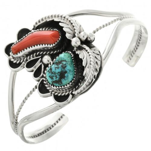 Vintage Coral Turquoise Bracelet 31792