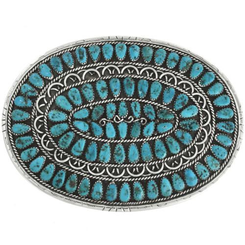 Vintage Turquoise Cluster Belt Buckle 31831