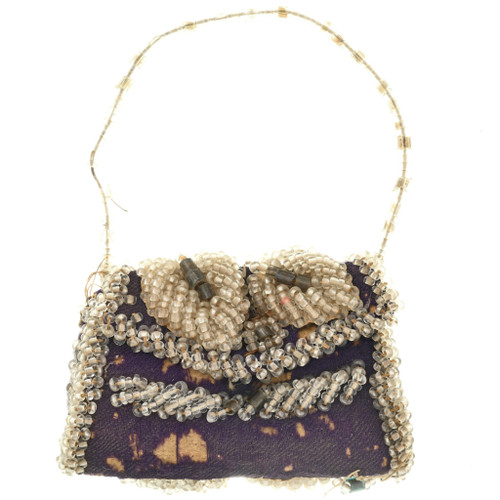 Antique Arapaho Beaded Purse Small Ladies Whimsy Early 1900's Collectible 31849